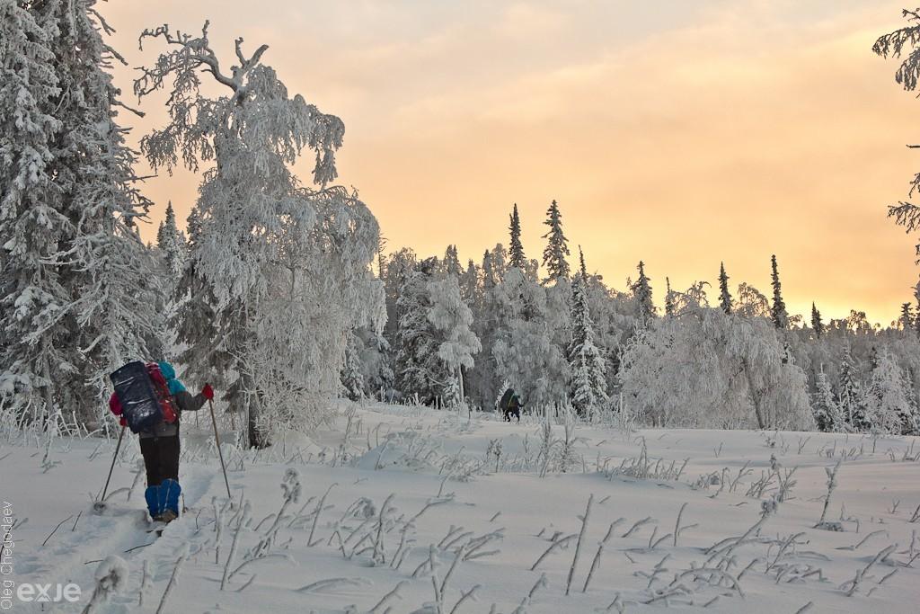 Лыжный поход по Южному Урал, хребет Нургуш