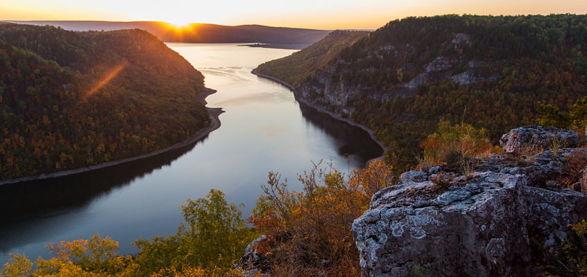 Осенний Нугуш – на каяке по водохранилищу