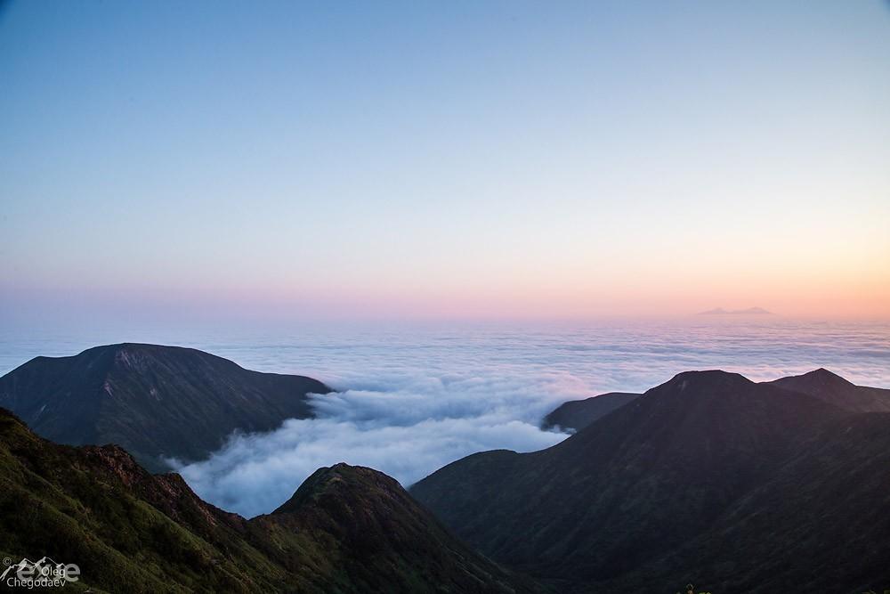 Утро над остром Итуруп