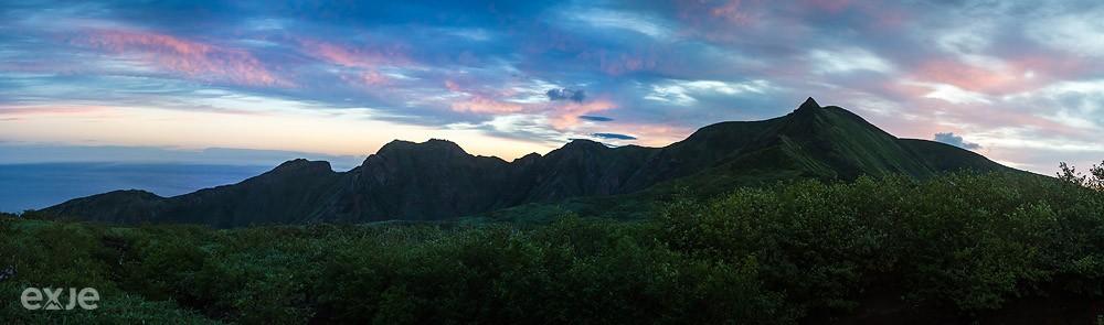 Хребет Богатырь, Остров Итуруп