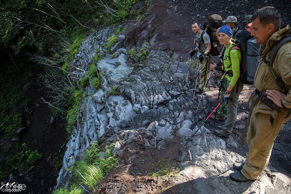 Второй водопад на ручье Кратерный. Остром Итуруп