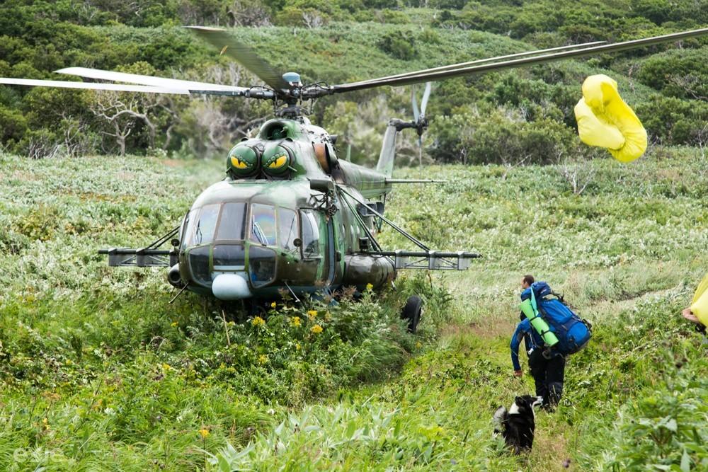Эвакуация вертолетом Итуруп