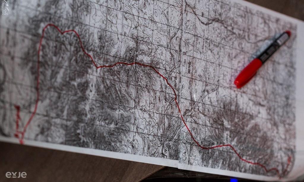 Карта хребет Крака Южный Урал