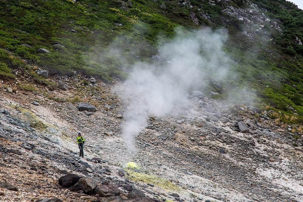 Фумаролы вулкана Баранского, Итуруп