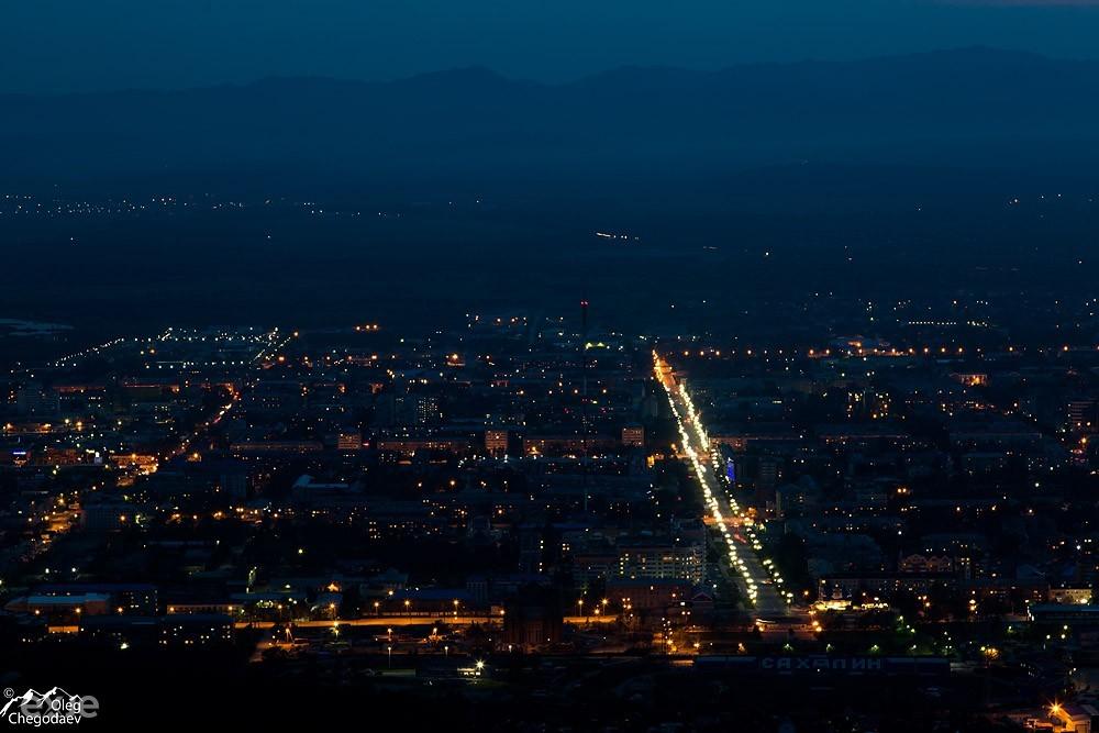 Южно-Сахалинск Ночью