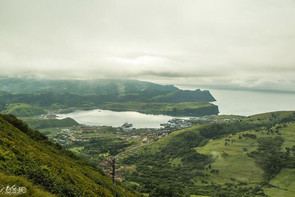Малокурильское с горы Шикотан