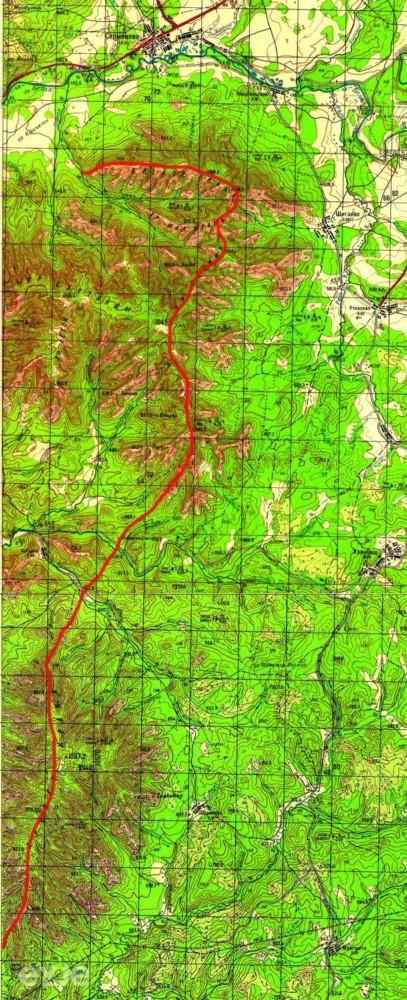 Хребет Крака, Суртанды, Акбиик, Малая Крака карта