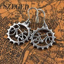 Серьги «Велосипедные»