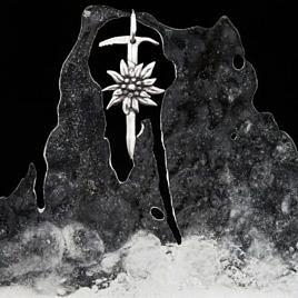 Подвеска альпинистская. ледоруб и эдельвейс