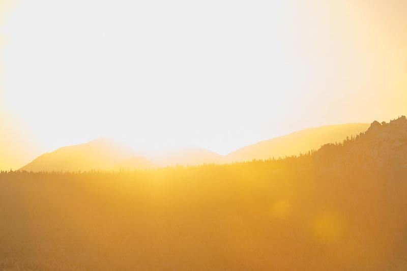 Закат над горой Ямантау 1640,4