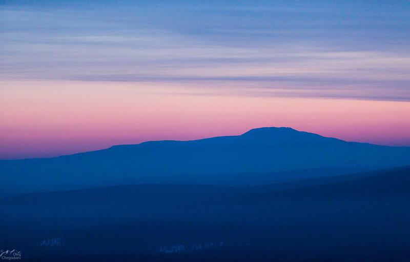Гора Большой Иремель перед восходом