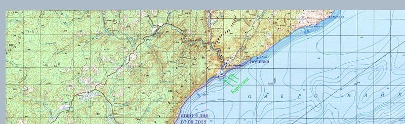 4 день похода на байдарке по озеру Байкал