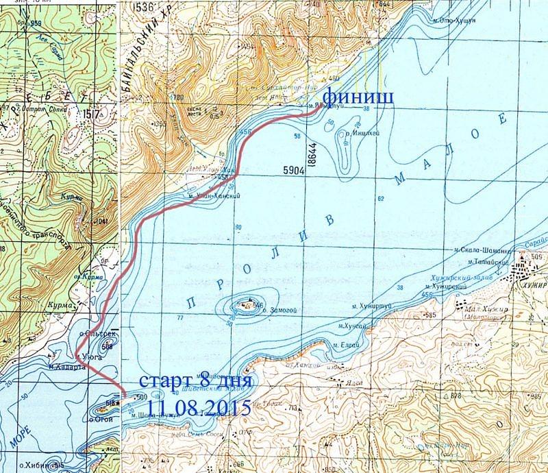 8 день похода на байдарке по озеру Байкал