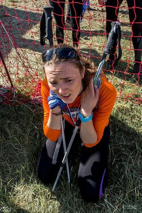 Татьяна Олькова на финише горного марафона Конжак