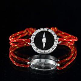 Серебряный браслет компас