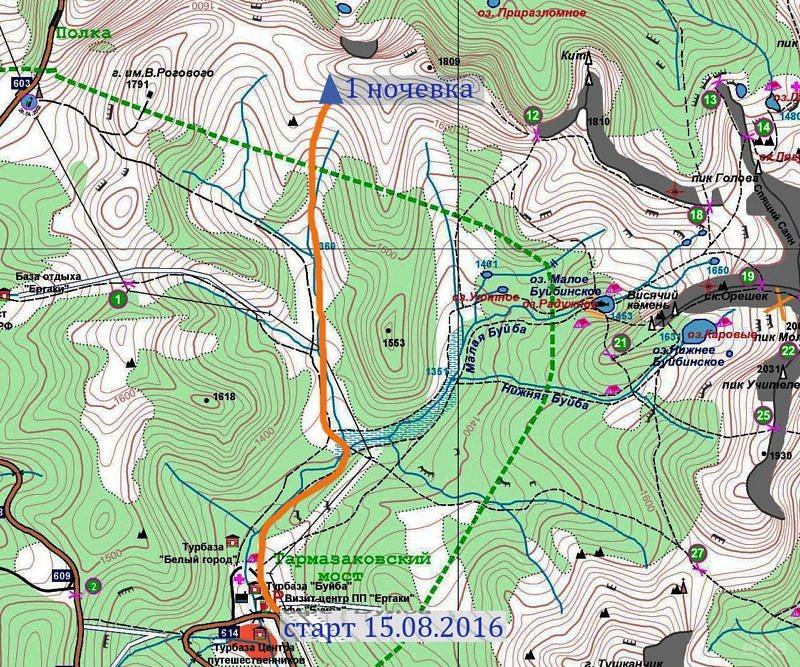 1 день Горный поход по природному парку Ергаки