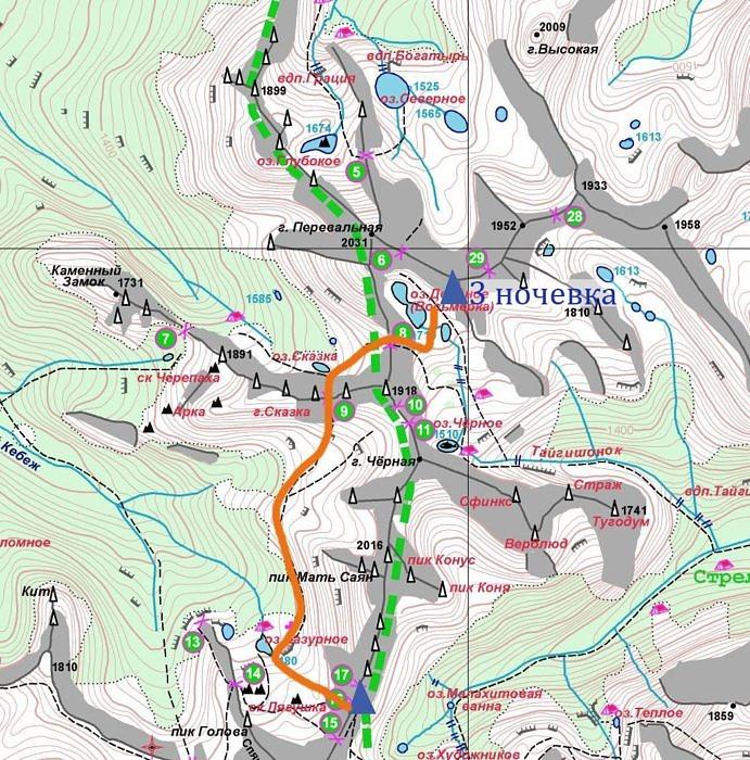 3 день Горный поход по природному парку Ергаки
