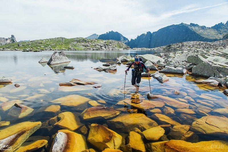Перемычка озера Восьмерка Ергаки