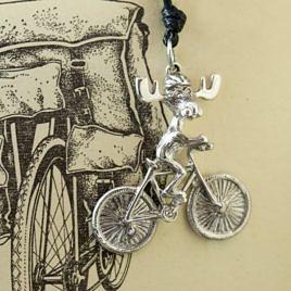 Подвеска «Лось велосипедист»