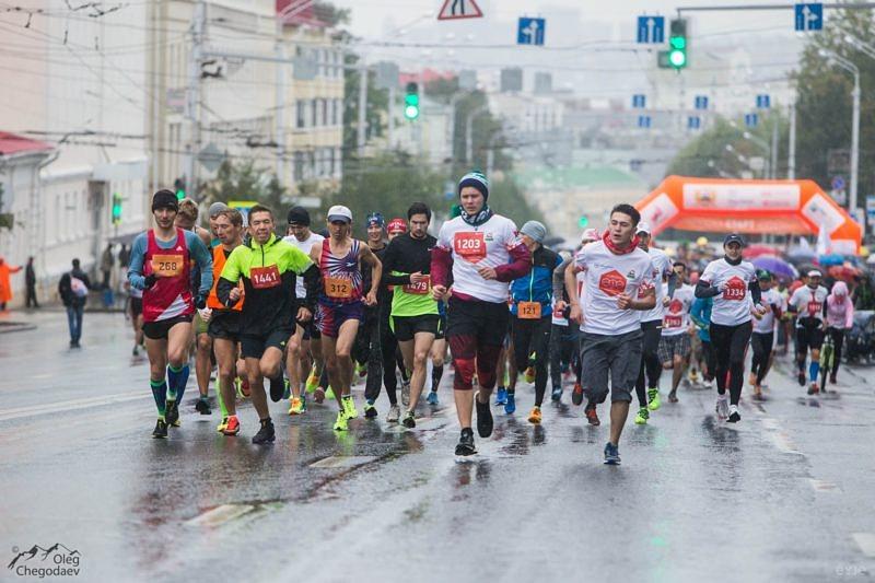 Старт Уфимского международного марафона