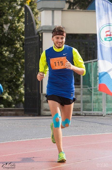 Финиширующие участники Уфимского международного марафона