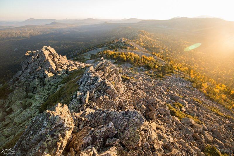 Хребет Кумардак, вид на юг.