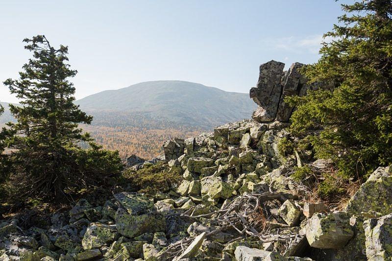 Вид с горы Караульная на гору Ямантау