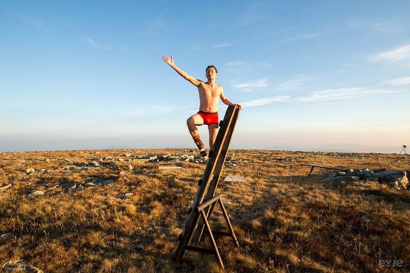 Раис Габитов на вершине горы Ямантау