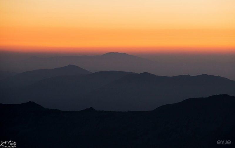 Вид с горы Ямантау на большой Иремель