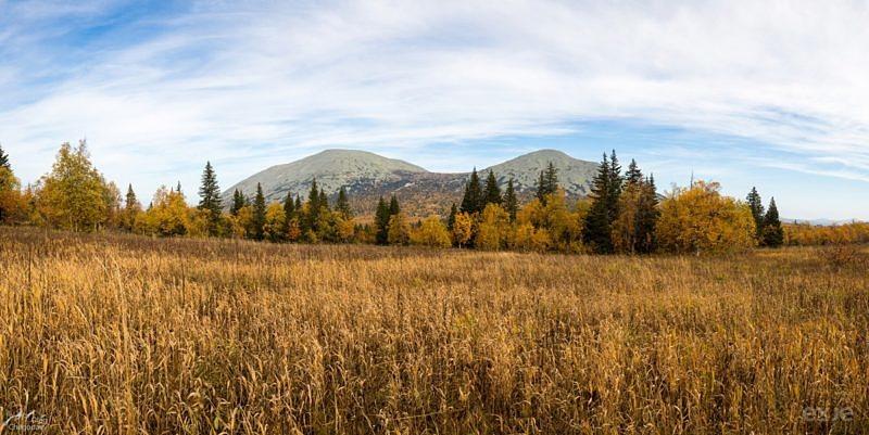 Вид на Ямантау с урочища Быковские поляны