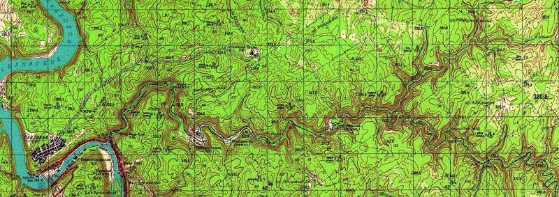 Река Яманелга на карте