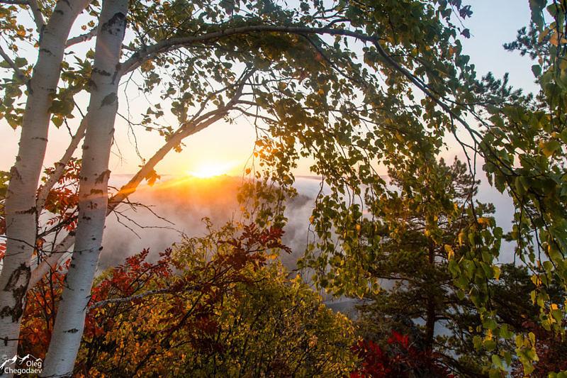 Рассвет на нугушском водохранилище