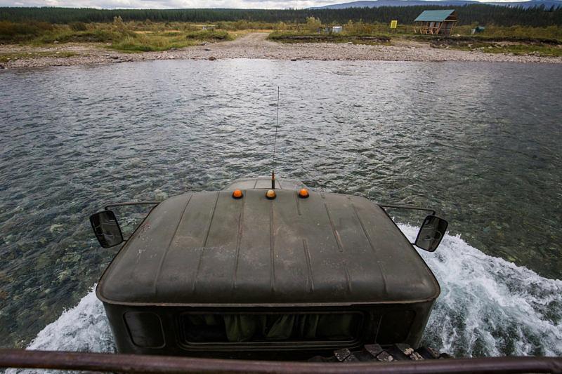 Брод, через реку Кожим.