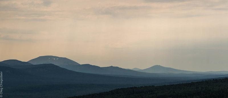 Вид на Ямантау с хребта Нары