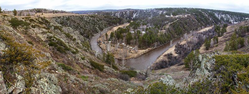 Глубокое ущелье реки Зилаир