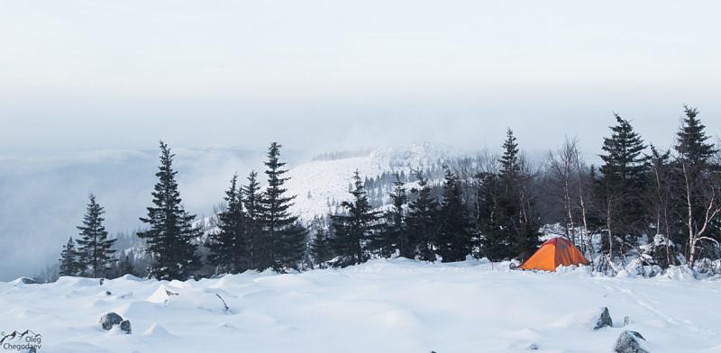 Палатка под вершиной Увана
