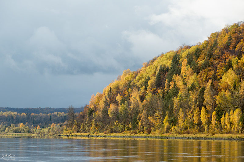 Высокие берега реки Караидель (Уфа)