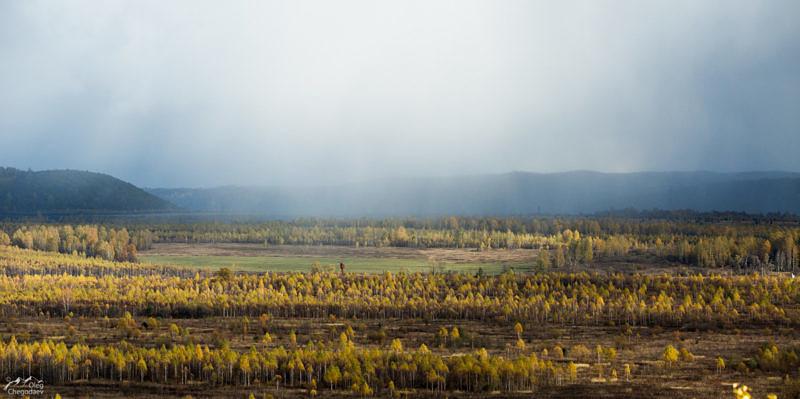 Вид на скалы на границу Уфимского плато
