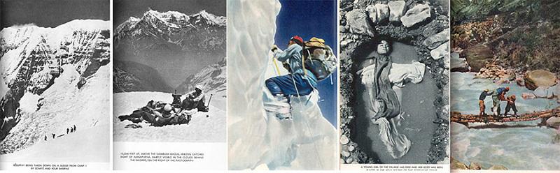 Фотографии и иллюстрации из книги Аннапурна - первый восьмитысячник