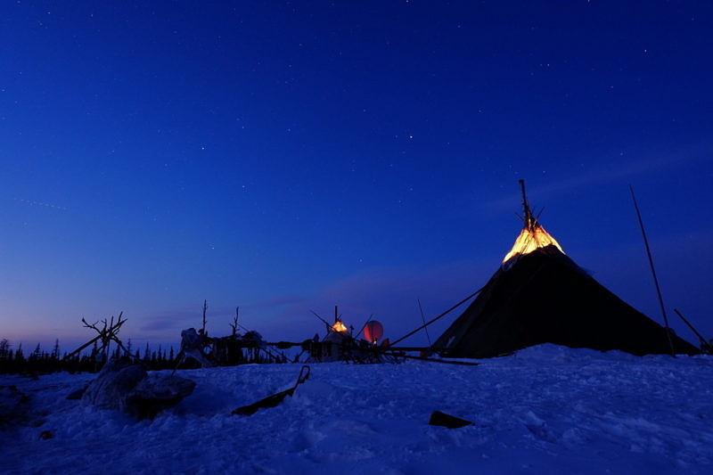 Во время экспедиции на полуостров Ямал