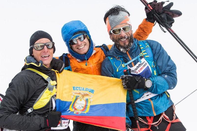 Иностранные участники гонки на вершине Эльбруса