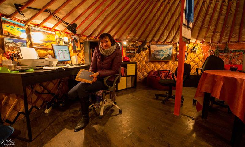 Администрация Музея кочевой культуры расположена в монгольской юрте