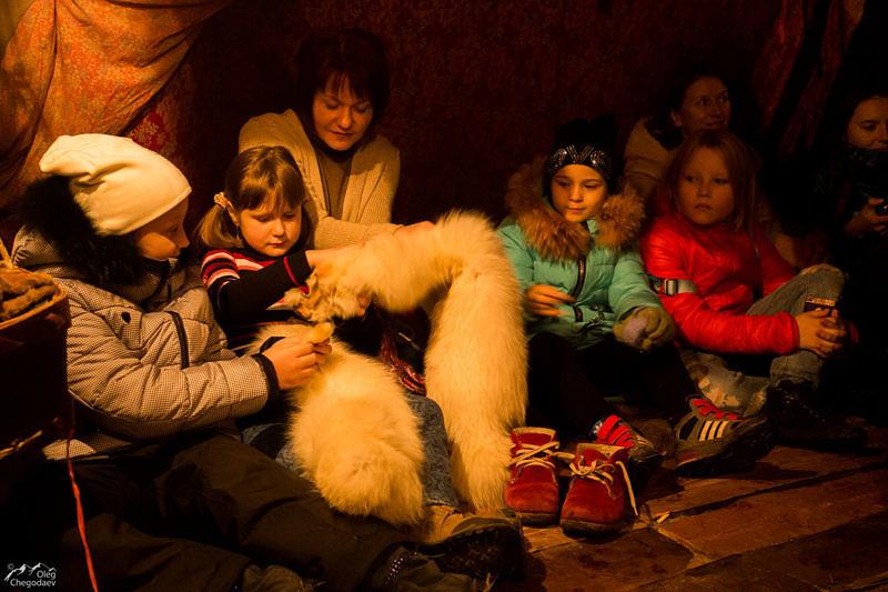 Слушатели лекции в Музее кочевой культуры