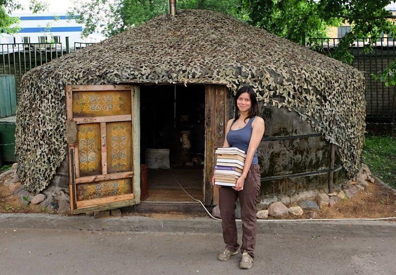 Анна Ларионова на территории музея Кочевой культуры