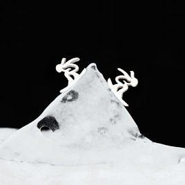"""Серьги  """"Отвязная сноубордистка"""""""