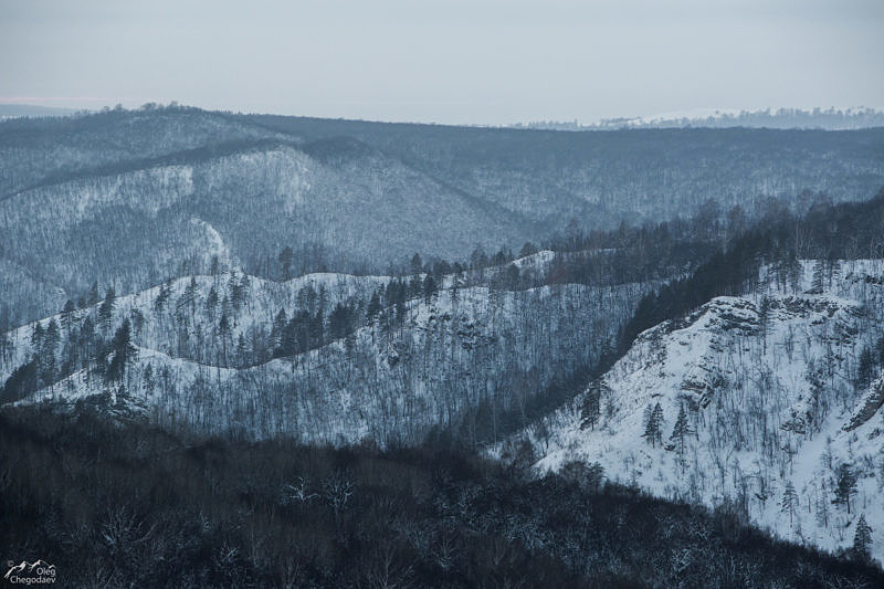 Скала Калим-Ускан с вершины Хауазе