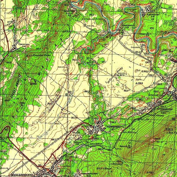 N-40-034 Хребет Ямантау (высшая точка 508.1)