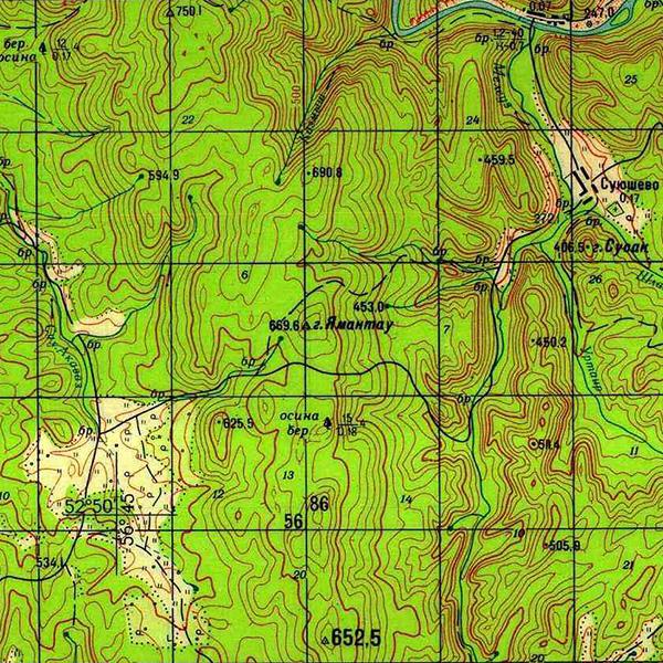 N-40-114 г. Ямантау (669,6 м)