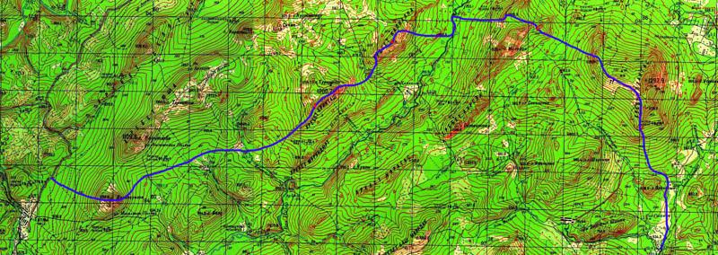 Полная карта маршрута трасса - Дунан Суйган - хр. Ерикташ - хр. Капкалка - хр. Маярдак - хр. Ялангас - дер. Отнурок