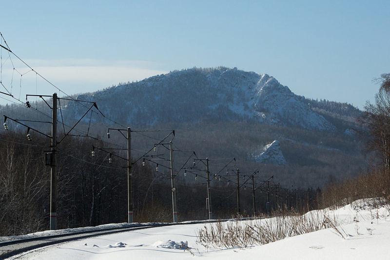 Гора Курташтау со стороны железной дороги